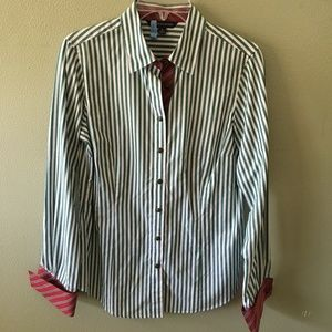 brooks brothers 346 striped button down shirt
